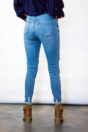 Kan Can Distressed Frayed Hem Jeans  Roselynn's