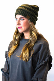 olive fitted cc beanie  Roselynn's