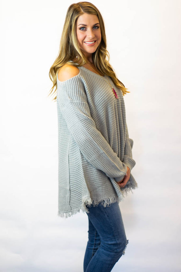 Frayed Hem Sweater  Roselynn's