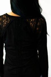 Casual In Lace Long Sleeve Top  Roselynn's