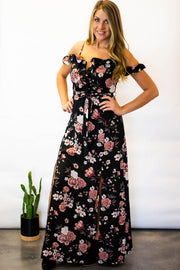 Black Floral Maxi Dress  Roselynn's