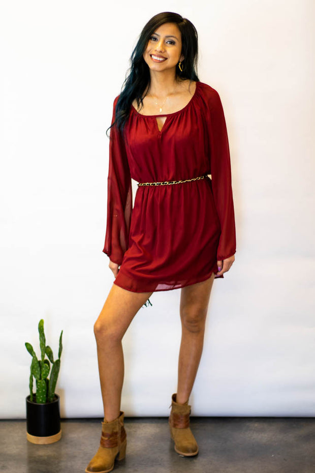 Napa Valley Long Sleeve Dress  Roselynn's