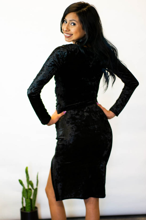 Black Velvet Dress  Roselynn's
