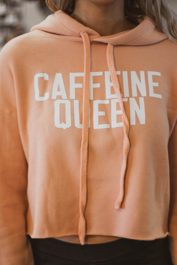 Caffeine queen cropped hoodie  Roselynn's
