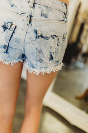 Acid Wash Shorts  Roselynn's