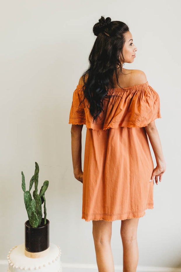 Frayed Hem Dress  Roselynn's
