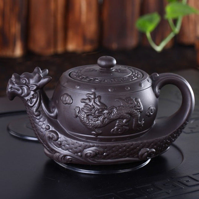 Dragon Boat Yixing Teapot | The Dragon's Treasure