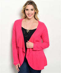 Ire Pink Cardigan cum Jacket with full sleeves