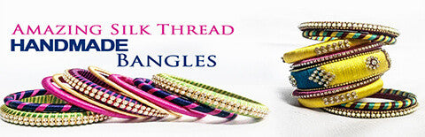silk threaded bangles