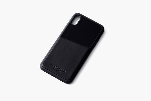 Black/Black - Travelteq iPhone Case XS Max - Empty laying flat