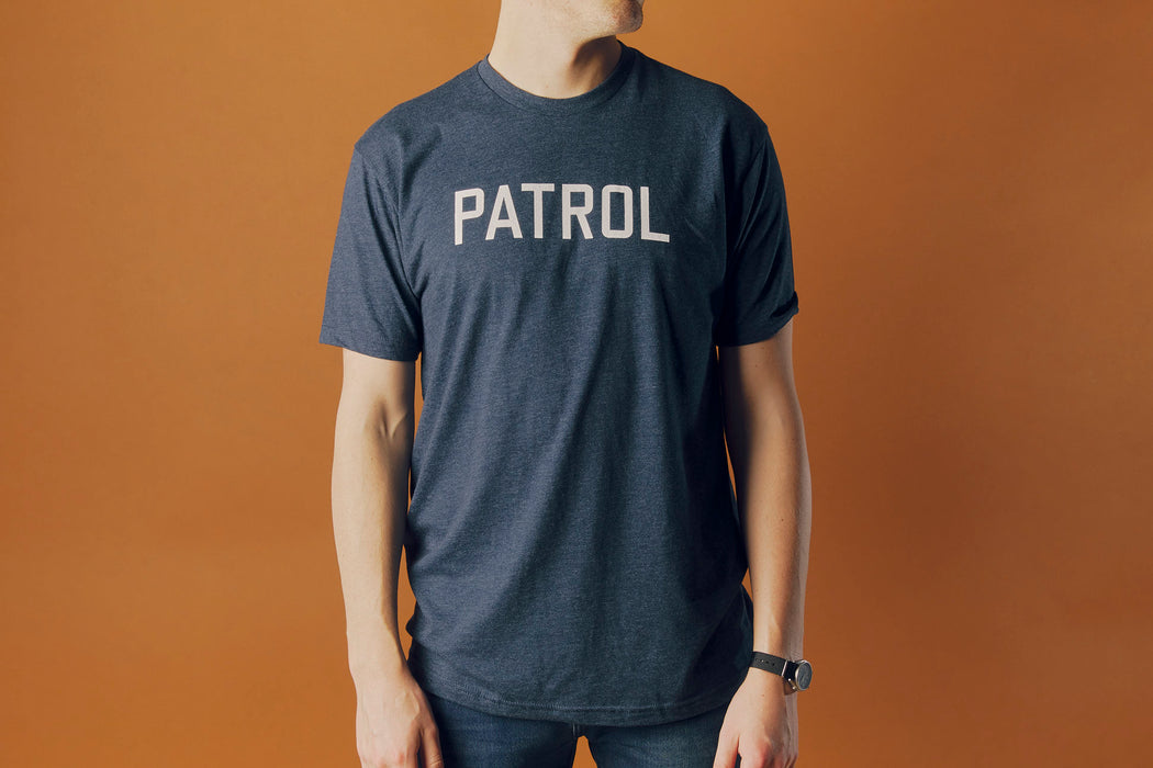 Navy T Shirt - On MODel