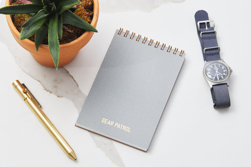 Gear Patrol Pocket Notepad - Dove Grey