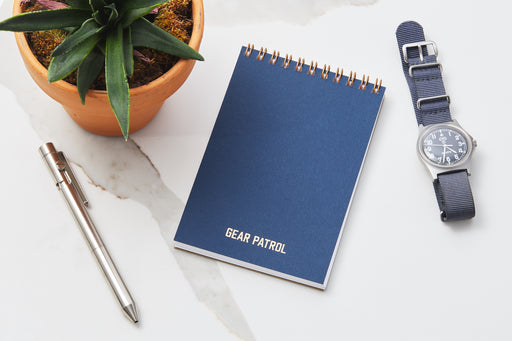Blue Notebook - with watch and pen