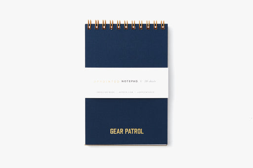 Gear Patrol Pocket Notepad- Oxford Blue