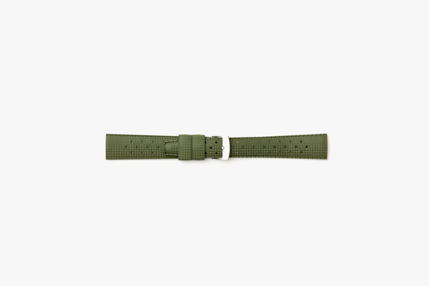 Nato Green - TROPIC Dive Watch Strap - Laying flat