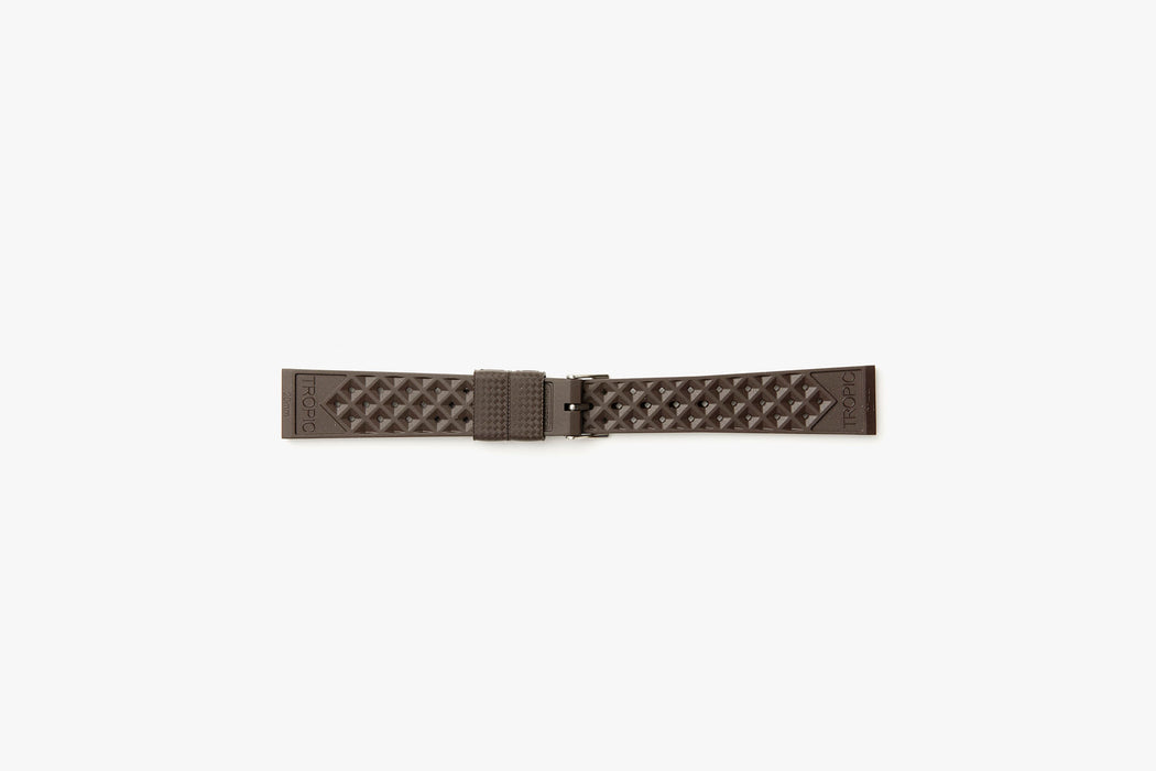 Brown - TROPIC Dive Watch Strap - Backside laying flat
