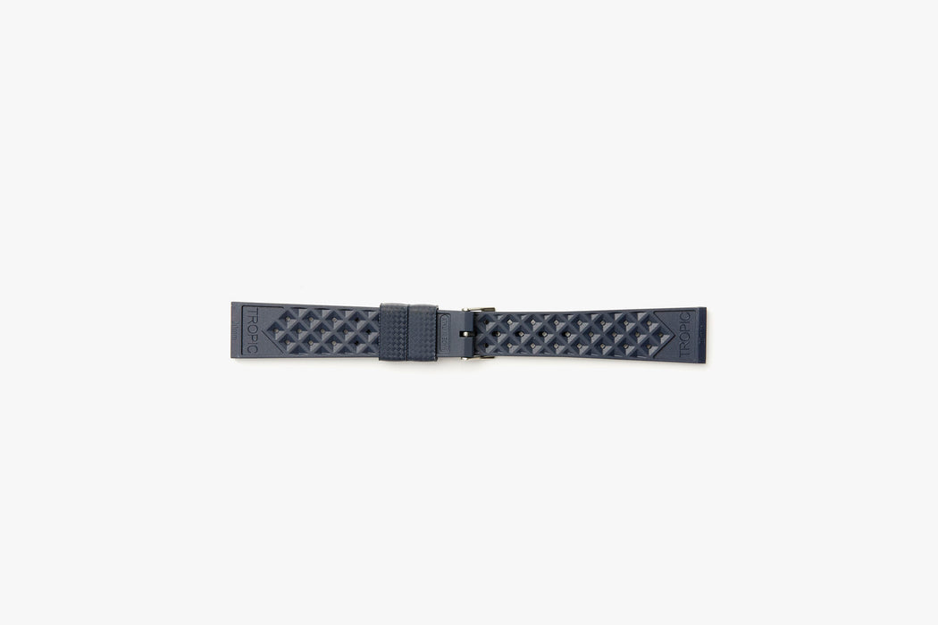 Blue- TROPIC Dive Watch Strap - Backside laying flat