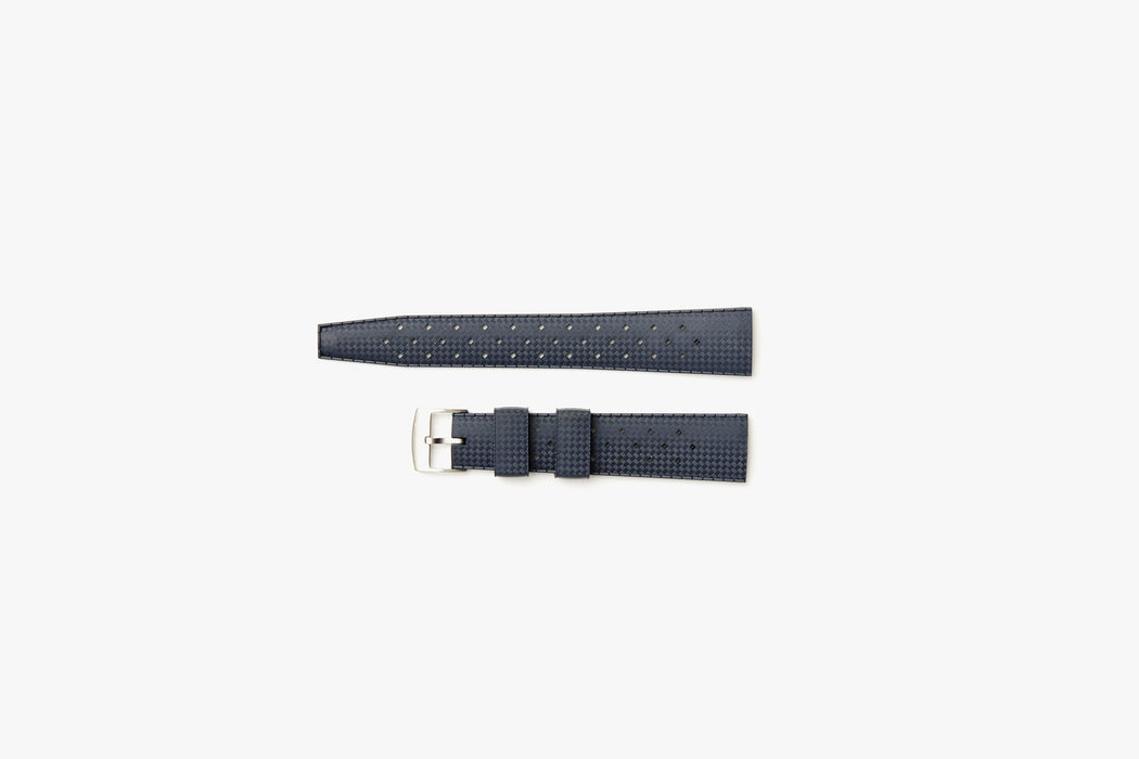Blue- TROPIC Dive Watch Strap - Laying flat, 2 pieces separated