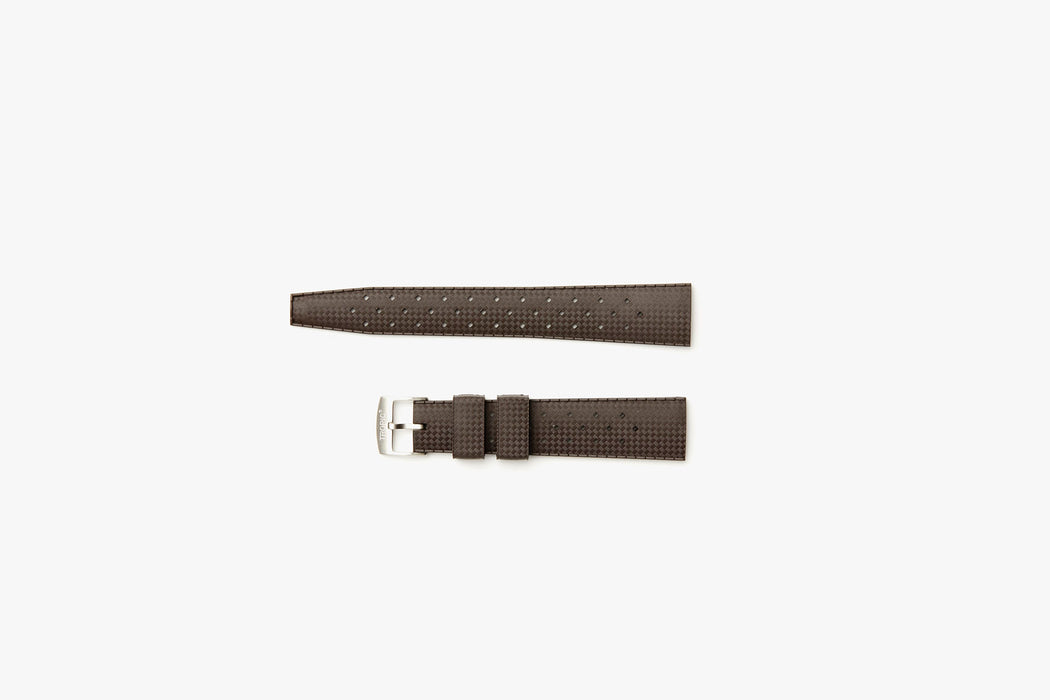 Brown - TROPIC Dive Watch Strap - Laying flat, 2 pieces separated