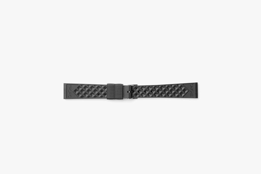 Black - TROPIC Dive Watch Strap - Backside laying flat