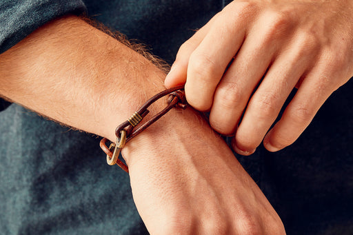 Brown Rum Runner Bracelet - On Model's Wrist
