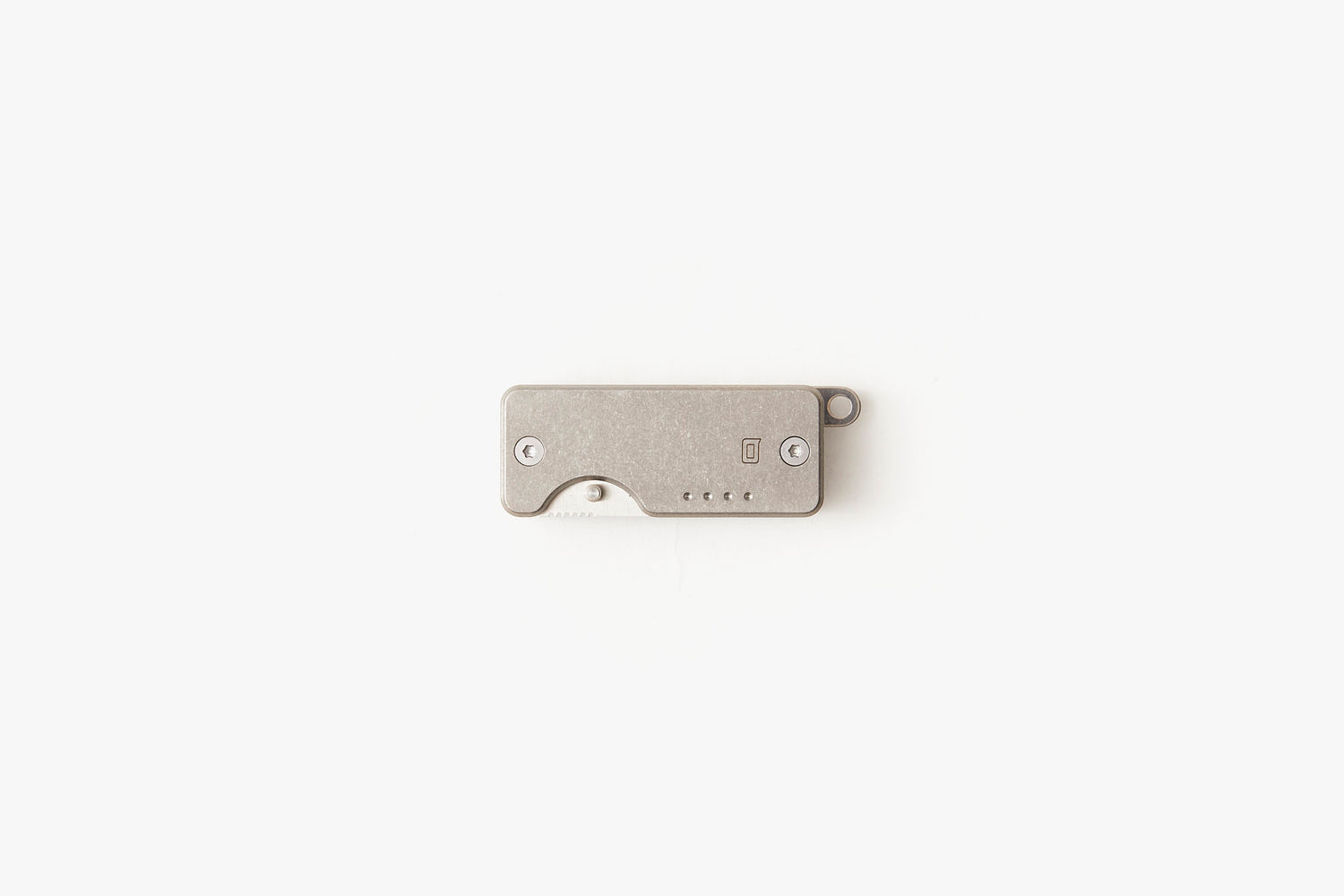 Quiet Carry Shorty Titanium Key Organizer - Stonewashed