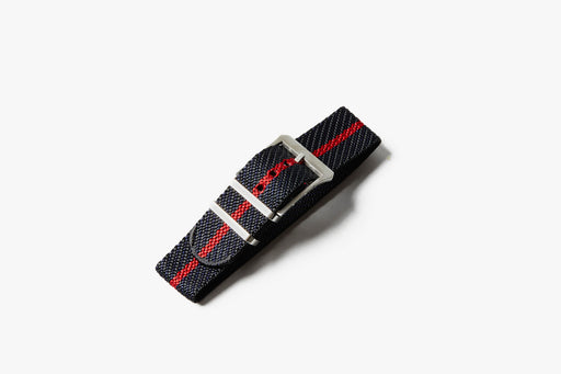 Crown & Buckle Chevron Adjustable Watch Strap - Night/Crimson