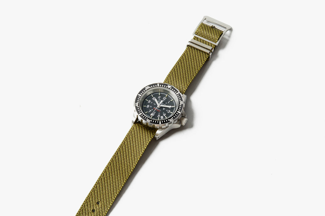 Crown & Buckle Chevron Adjustable Watch Strap - Forest