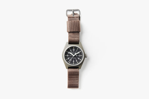 Marathon General Purpose Mechanical Composite Watch - Sage Green - Top-down image of watch laying flat