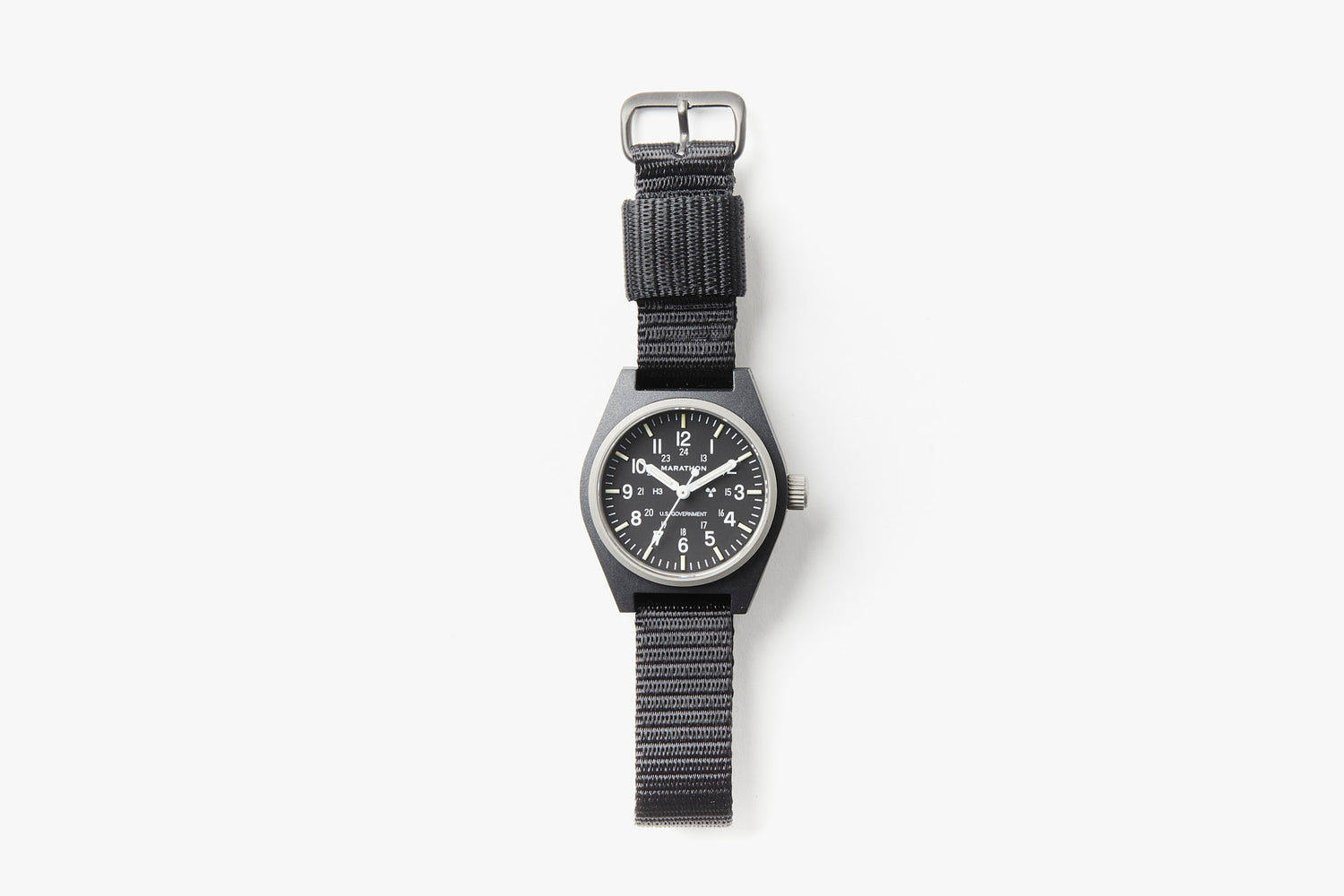Marathon General Purpose Quartz Composite Watch - Black - Top-down image of watch laying flat