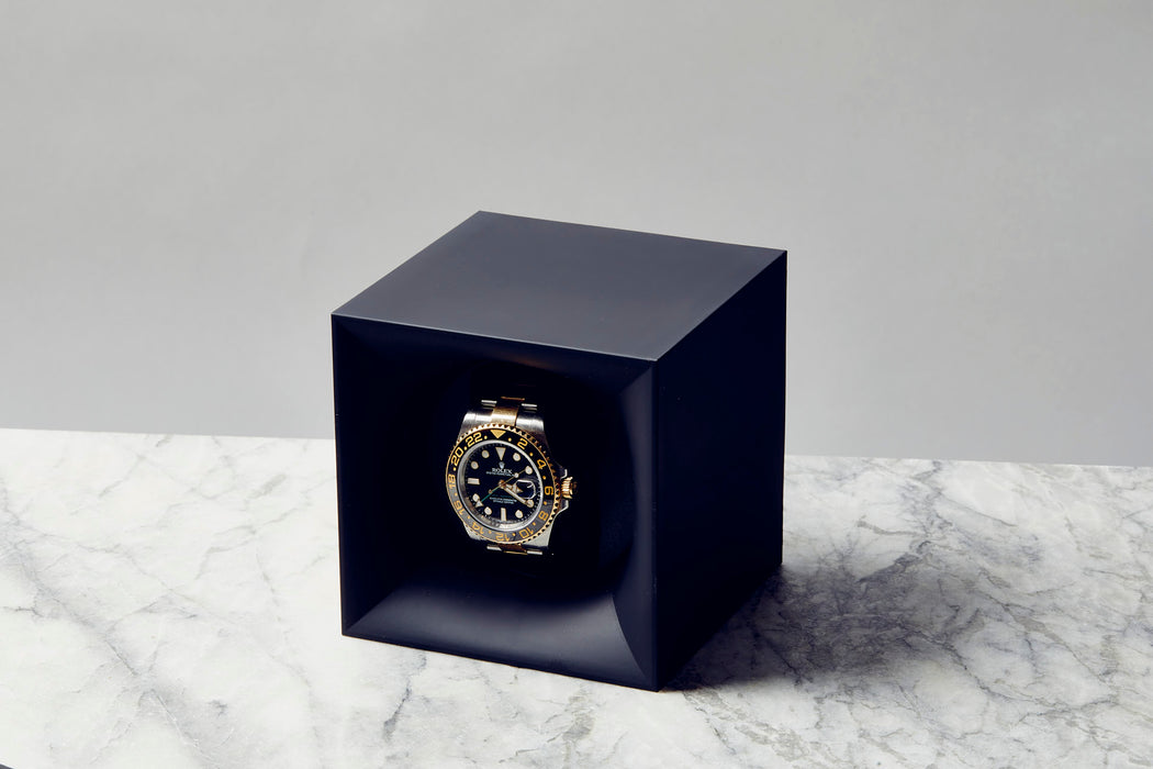 Navy - SwissKubiK StartBox Watch Winder - With watch inside
