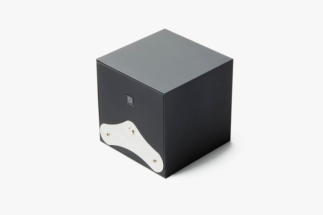 Black - SwissKubiK StartBox Watch Winder - Backside