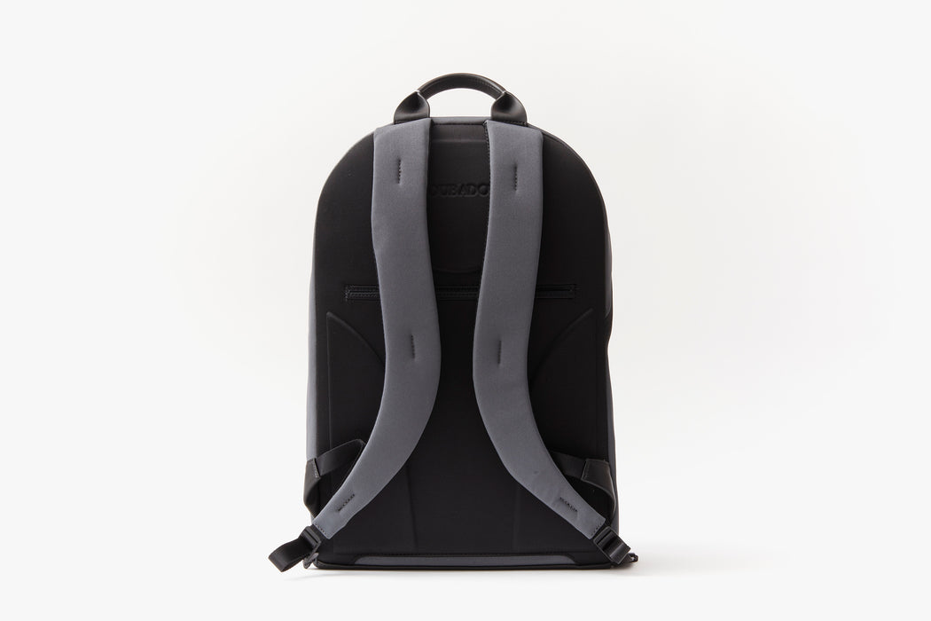 Grey - Troubadour Explorer Off Piste Rucksack - Strap side of backpack