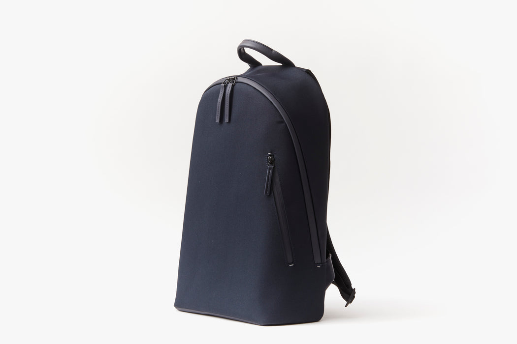 Navy - Troubadour Explorer Off Piste Rucksack - Angled photo