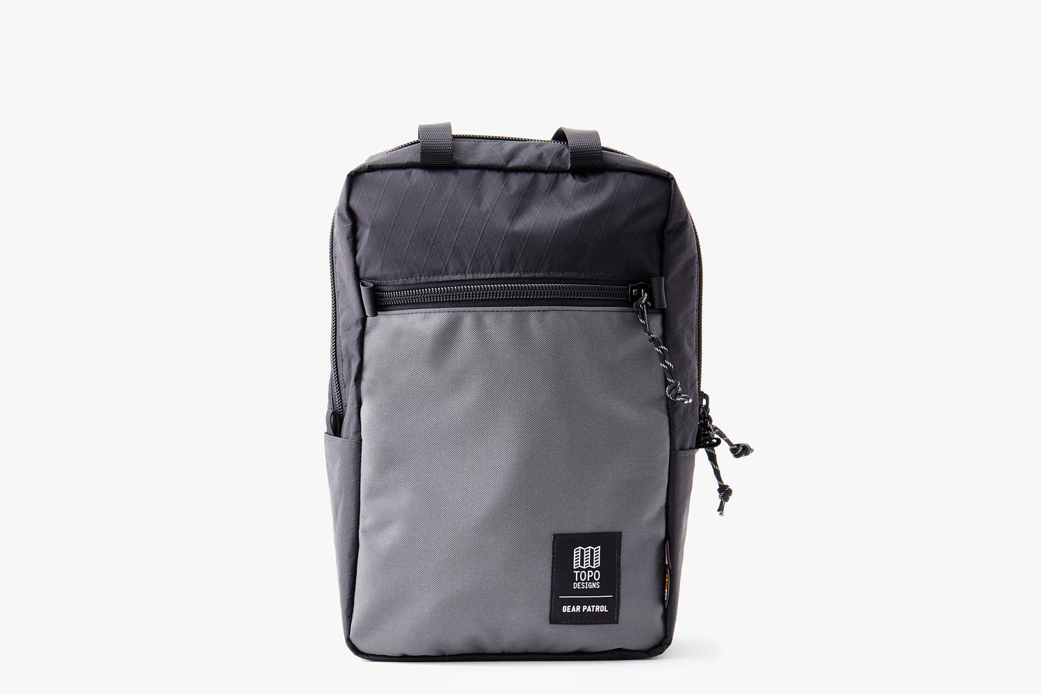 Black/Grey - Topo Designs x Gear Patrol Backpack Tote - Front