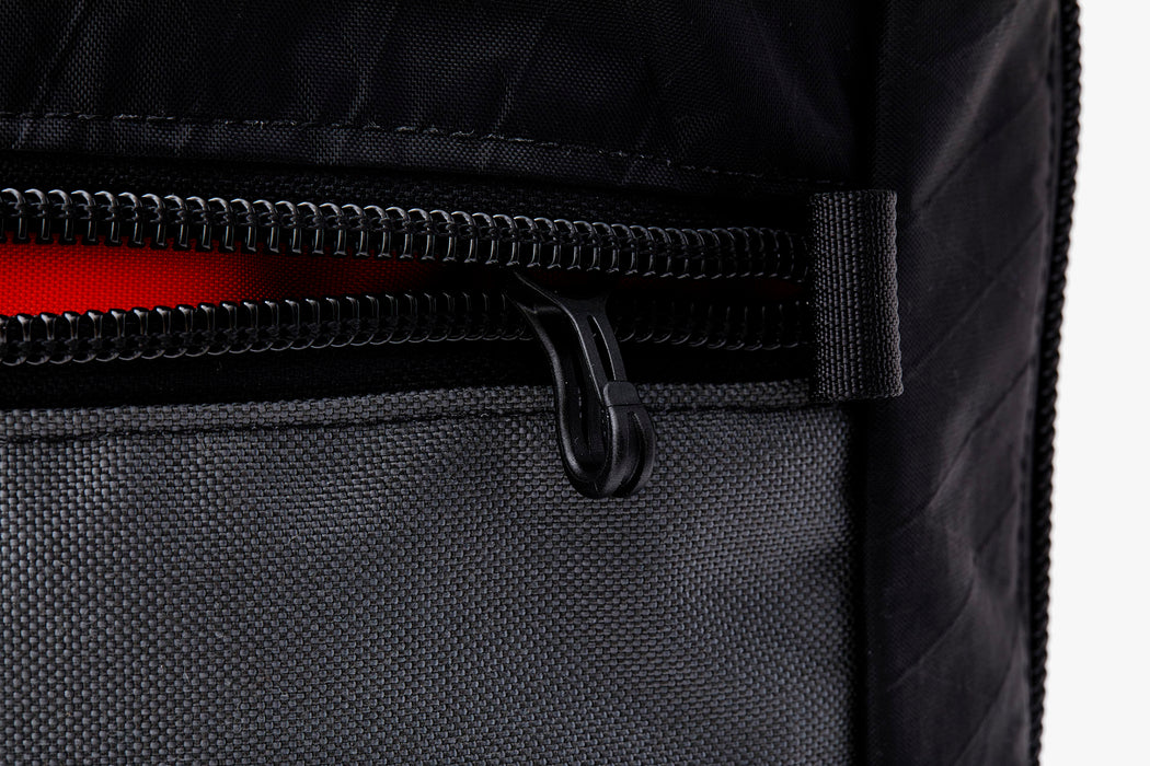 Black/Grey - Topo Designs x Gear Patrol Backpack Tote - Close up of key lanyard