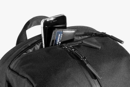 Black Duffel Pack - Top Pocket Details with iPhone and Wallet Pictured