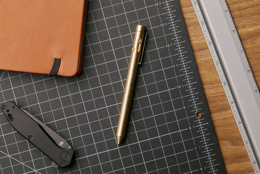 Inventery Bolt Action Pen Large - Brass