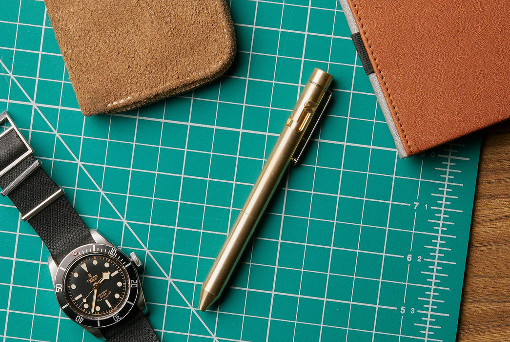 Inventery Bolt Action Pen Medium - Brass