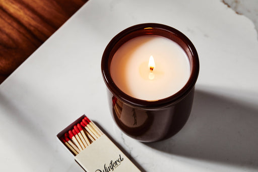 Sequoia Spice - Winford Candle - Lit with box of matches