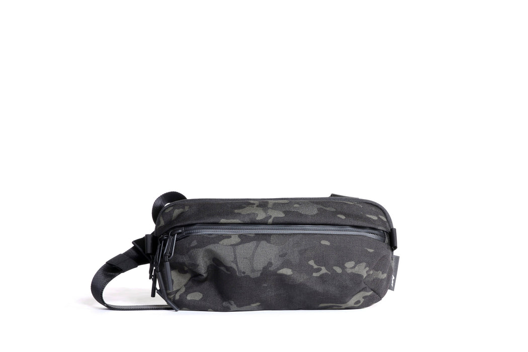 Camo Sling Bag Standing Up - Front View