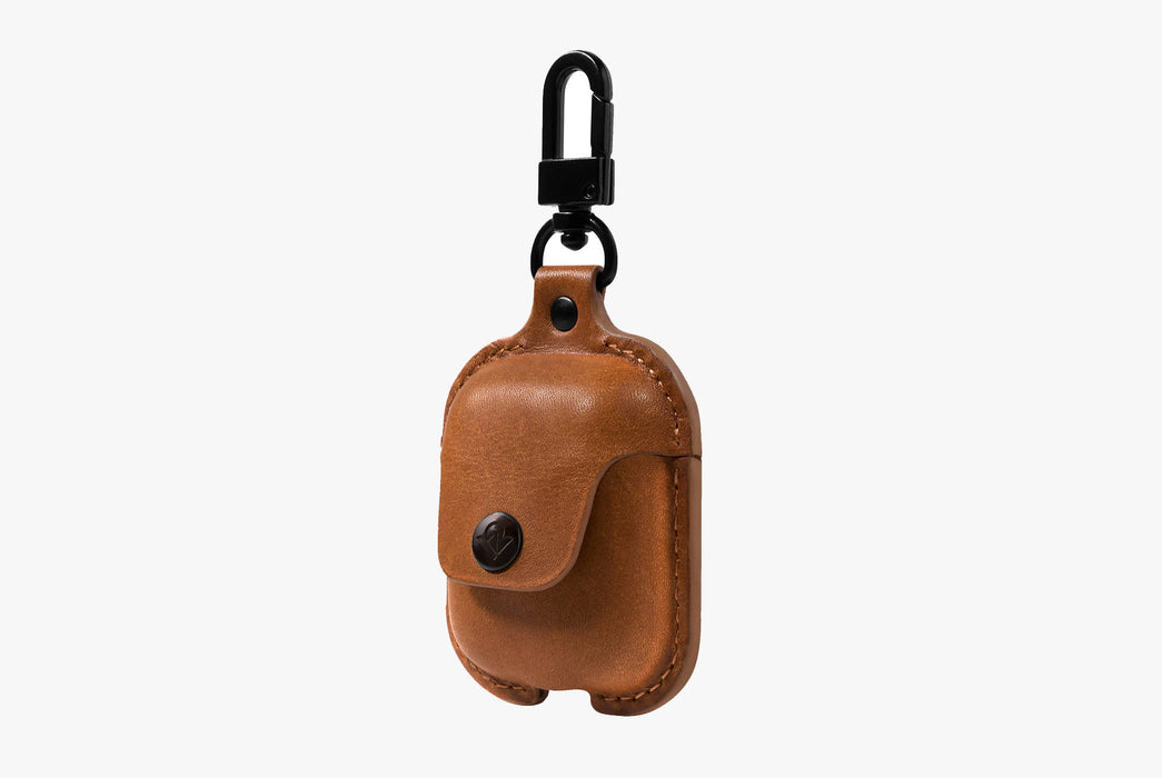 Cognac - Twelve South AirSnap Case for AirPods - Case closed