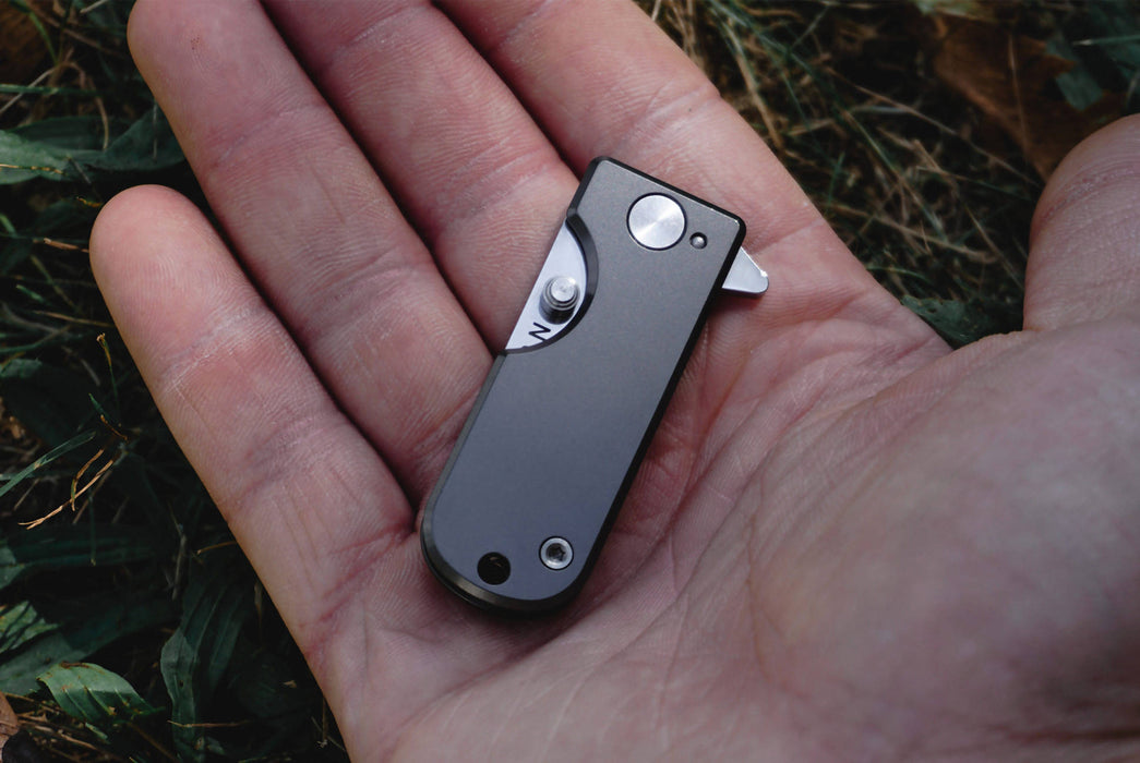Titanium - WESN TI Microblade - Closed in persons hand