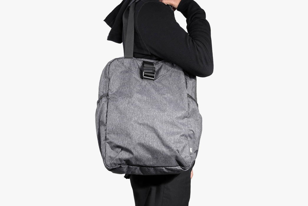 Gray Go Tote on Model - Side View