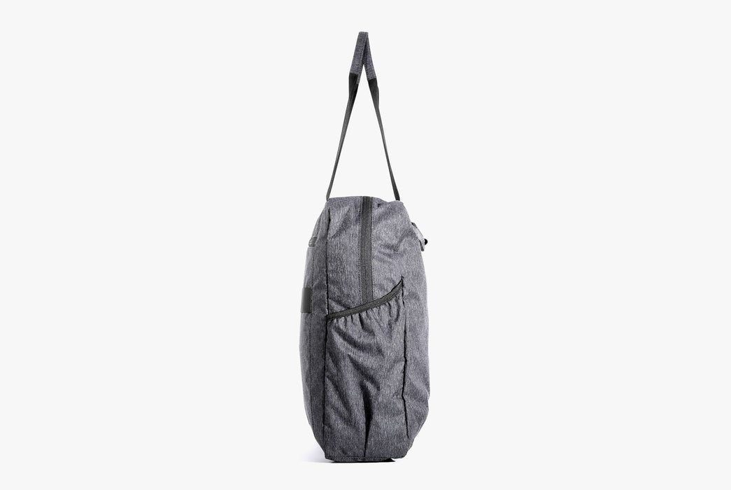 Gray Go Tote Standing Up - Side View