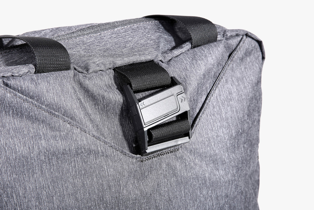Gray Go Tote - Buckle Close-Up