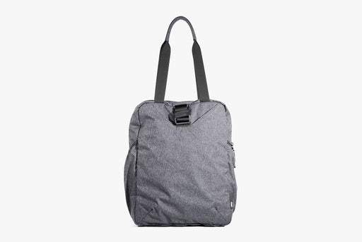 Gray Go Tote Standing Up - Front View