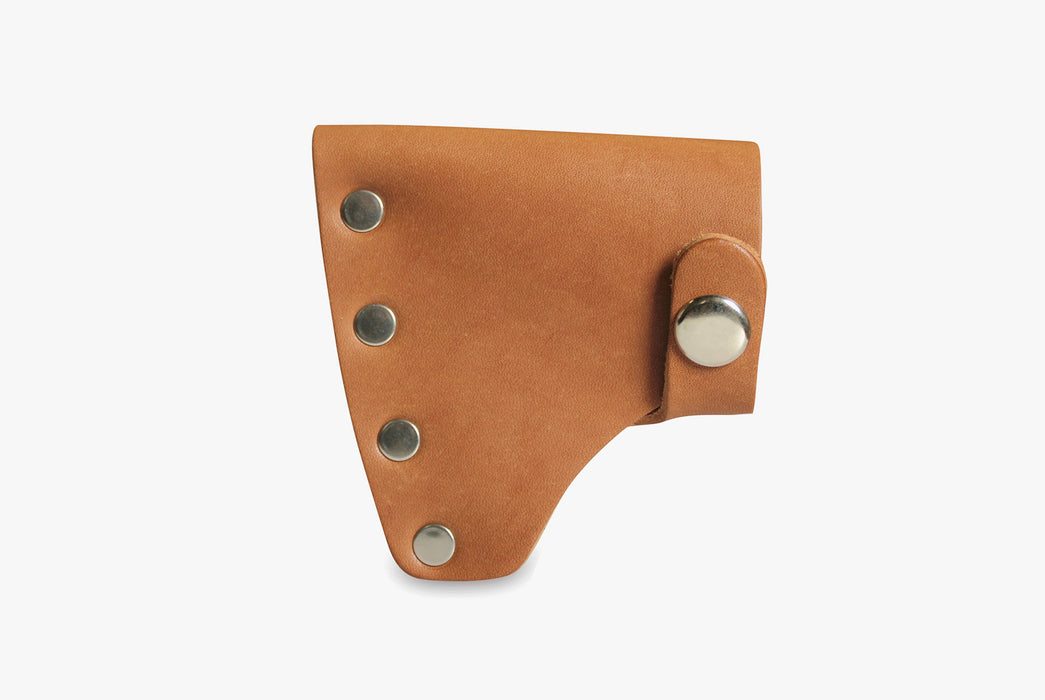 Tan Riveted Leather Sheath - Standing Up