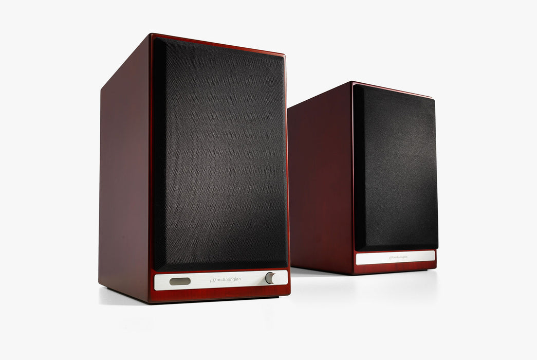 Cherry Speakers Standing Up - Front View