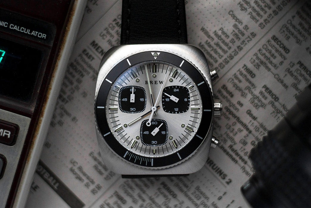 Steel Watch - On Newspaper